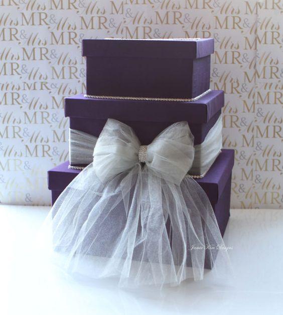 Wedding Card box Money Card Box Wishing well  by jamiekimdesigns, $110.00