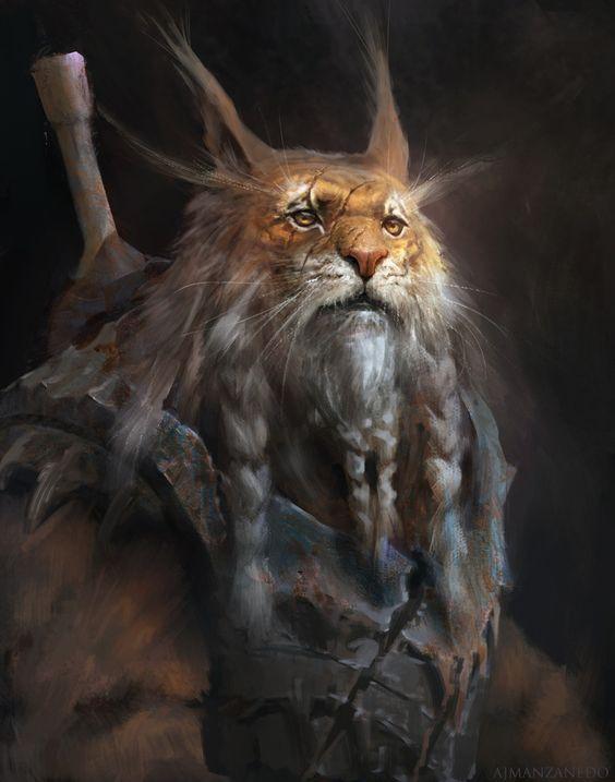 Le'koo, Geist der Wildnis, der Tiere und der freiheit. Gatte der Mîca. Vater der Lekon