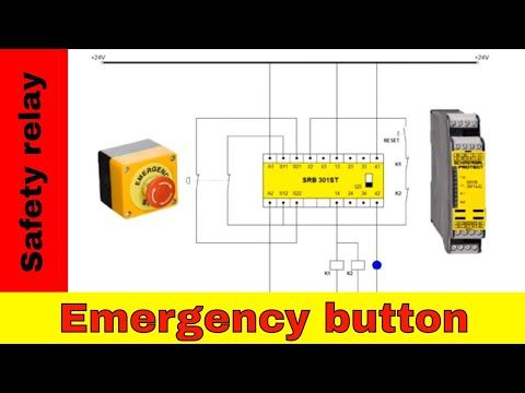 Wiring Safety Relay Srb301 And Emergency Stop Youtube Relay Emergency Logo Tutorial