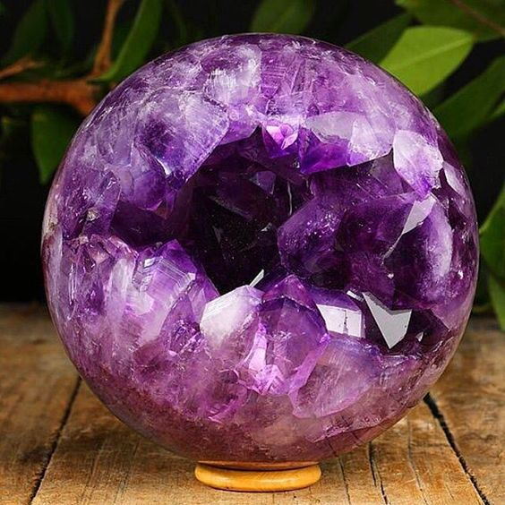 Lusting over this *gorgeous* Amethyst Geode sphere from @pacificminerals  The amethyst addiction is real hehe  Photo Cred: @pacificminerals