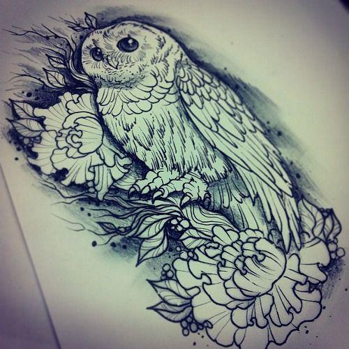 owls sketch - tattoo idea