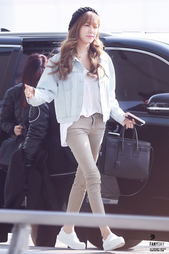 2015 snsd tiffany airport fashion snsd jessica