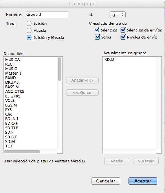 pestaña creacion grupo, 5 herramientas de pro tools para produccion musical, http://promocionmusical.es/produccion/: