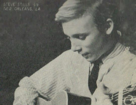 Stephen Stills in 1964 when he was singing with a New York folk group called the Au Go Go Singers before he moved to LA and got into the gang that would become Buffalo Springfield