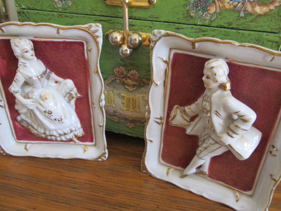 RARE Set of 2 French Provincial Period Dressed by VintageVivant, $36.00