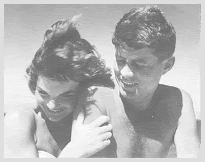 JFK and Jackie... Just like this