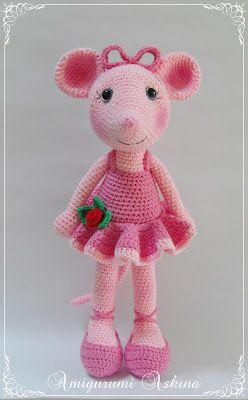 Amigurumi Balerin Fare Yapilisi : Toys, Angelina ballerina and Mice on Pinterest