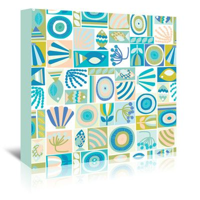East Urban Home Under The Sea1 Graphic Art on Wrapped Canvas Size: