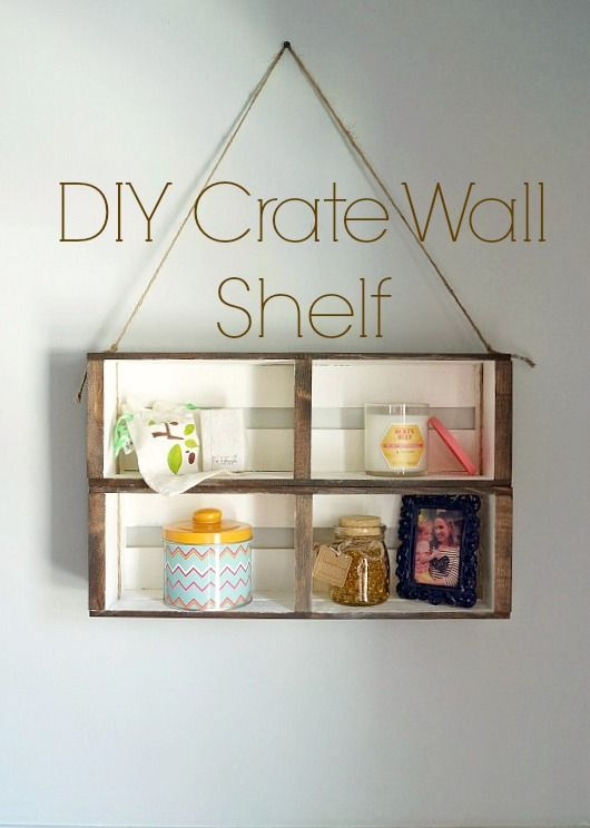 DIY Crate Wall Shelf an easy no build shelf that only requires craft store materials! The Ultimate Party Week 45:
