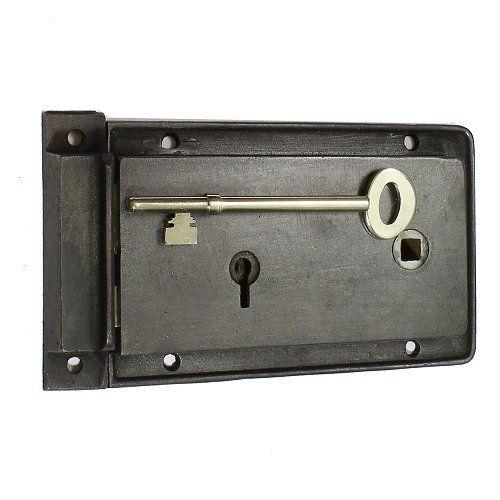 Reclaimed Vintage Cast Iron Rim Lock Cast Iron Iron Door Furniture