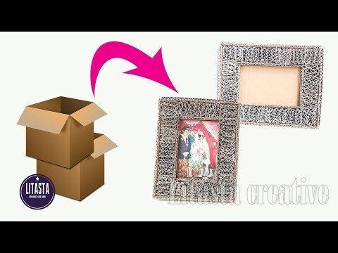 Easy Ide Kreatif Membuat Bingkai Dari Kardus Bekas Diy Room