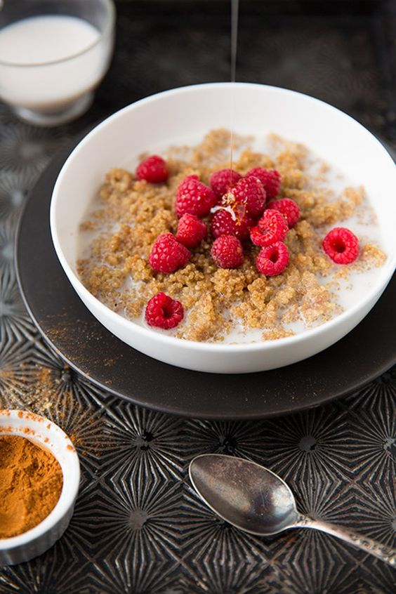 Pin for Later: 26 Recipes Starring Quinoa, the Little Pseudograin That Could Chai-Spiced Breakfast Porridge Mix up your breakfast routine with warmly spiced quinoa porridge.