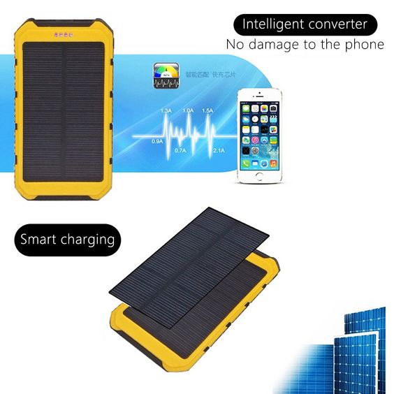 Sold 8092134274 Items 20000mah Large Capacity Solar Panel Sun Power Battery Power Bank Charger Universal Portab Power Bank Charger Sun Power Solar Power House