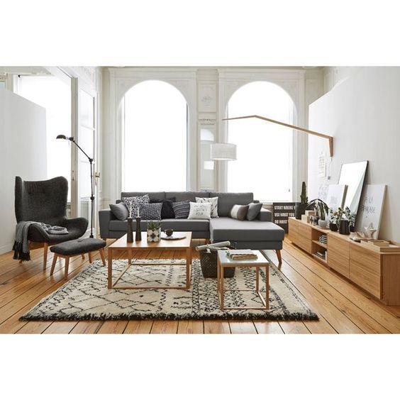 Bout de canapé, table guéridon d'appoint, plateau La Redoute Interieurs