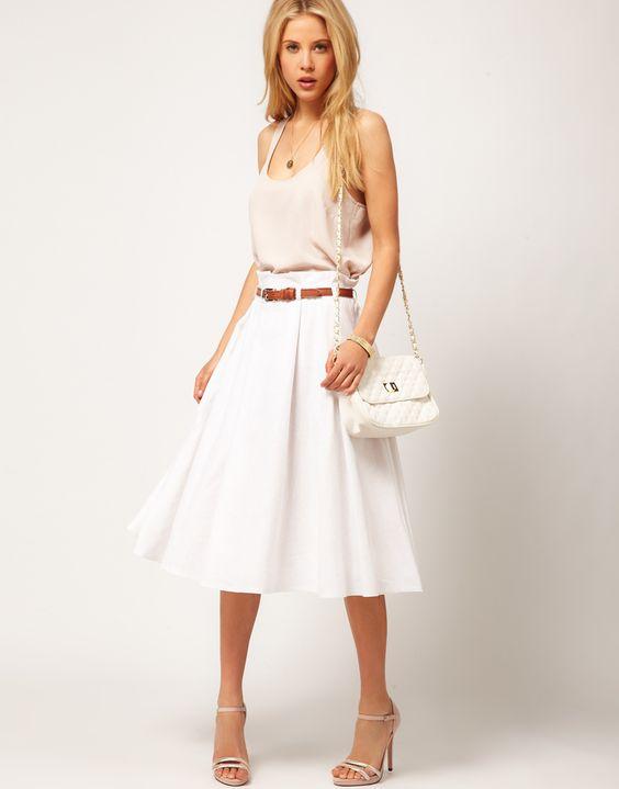 ASOS Linen Midi Skirt
