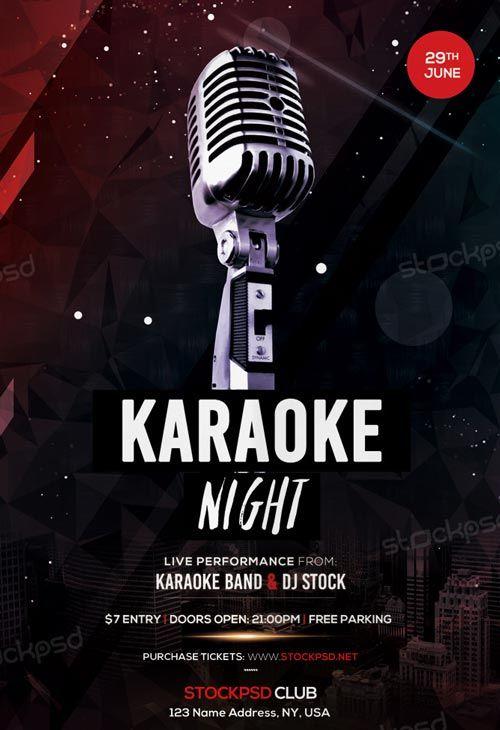 Free Karaoke Night Flyer Template  HttpFreepsdflyerComFree