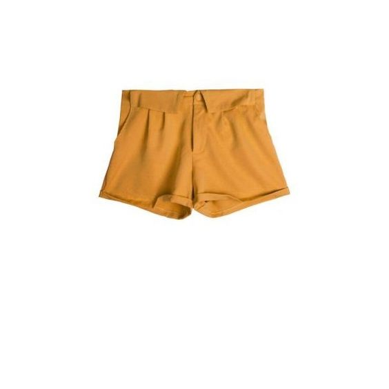 All-match Candy Color Loose Shorts Yellow via Polyvore