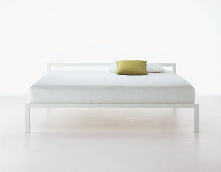 Aluminium bed by Bruno Fattorini for MDF Italia