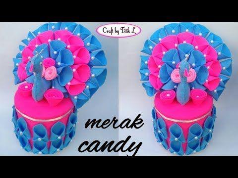 Diy Tutorial Membuat Candy Merak Dari Kain Flanel How To Make Felt Peacock Candy Youtube Kain Flanel Buket Permen Permen