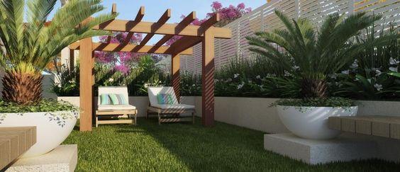 Jardim com espaço zen