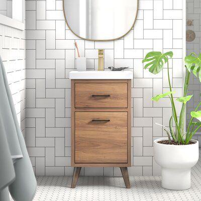 Foundstone Joel 18 Single Bathroom Vanity Set Wayfair Ca Single Bathroom Vanity Vanity Set Bathroom Vanity