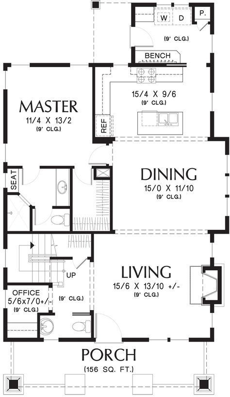 Bungalow Style House Plan 3 Beds 2 5 Baths 1777 Sq Ft Plan 48 646 New House Plans Bungalow Style House Plans Craftsman House Plans