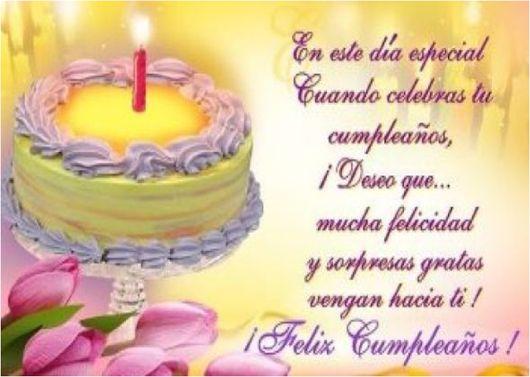 Hermoso Mensaje de Cumpleaños para el Festejado | Postales de Cumpleaños Gratis