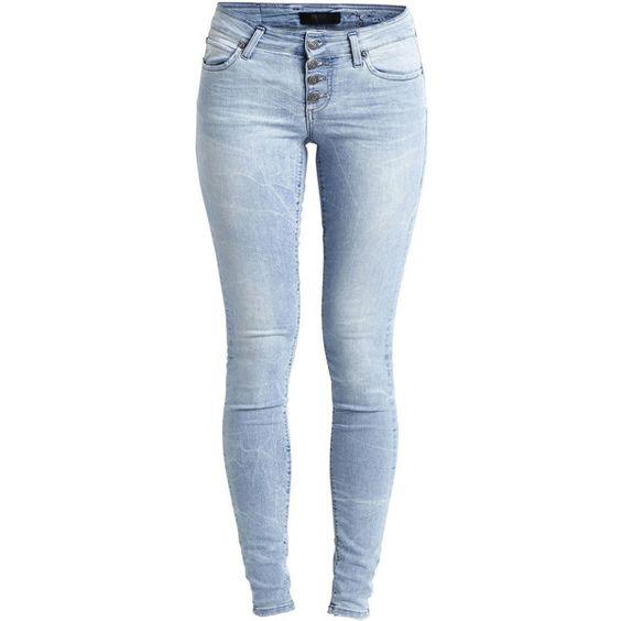 Object Collectors Item Objliva - Super Slim Fit Jeans (€56) ❤ liked on Polyvore featuring jeans, pants, bottoms, calças, light blue denim, blue jeans, slim stretch jeans, stretch jeans, slim-leg jeans and stretchy jeans