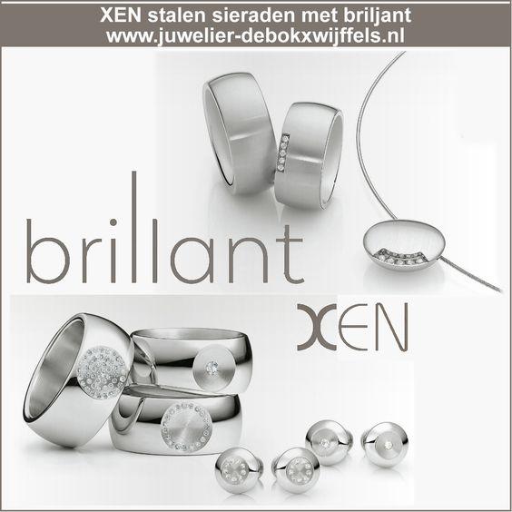 Xen sieraden   Staal in combinatie met briljant   mooi, tijdloos, moderne sieraden. #xen #xensieraden #sieraden #stalensieraden #briljanten #diamanten #ringen #JDBW