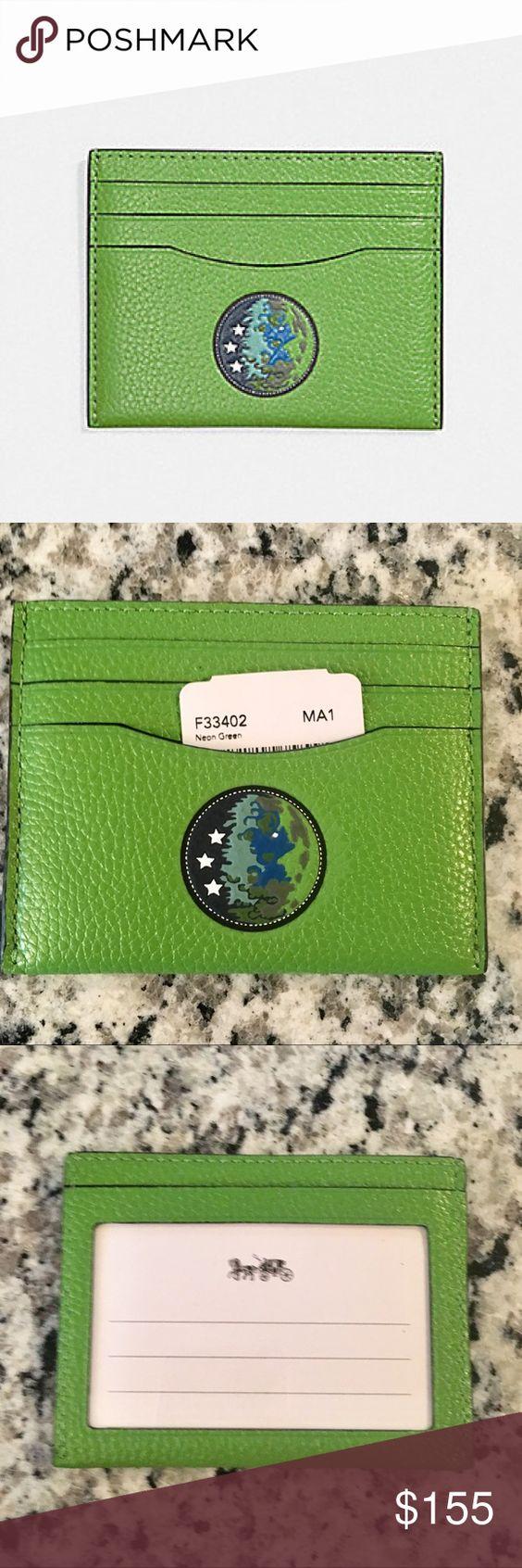 Coach X Nasa Id Card With Earth Motif