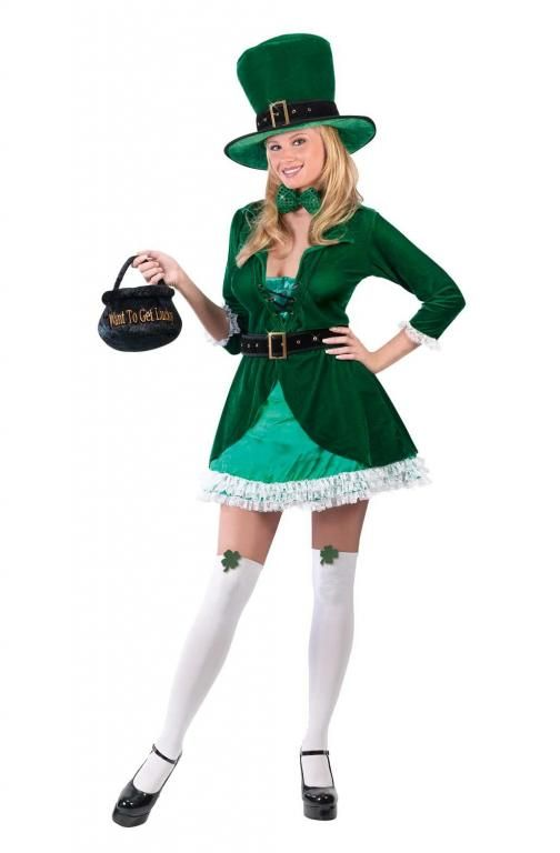 Luscious Leprechaun Costume - Adult Costumes