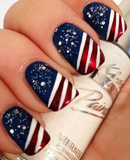 American Pride Nail Art .. Americana Manicure