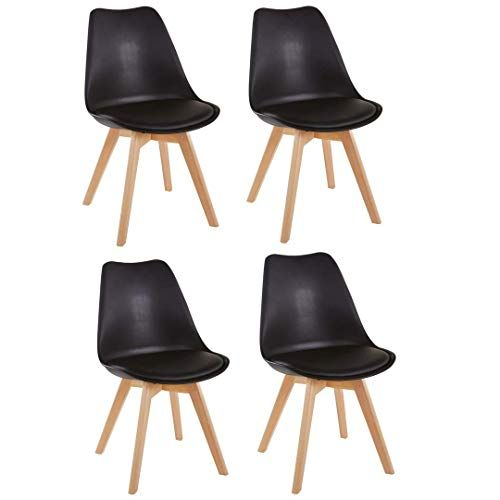 Millhouse Tulip Dining Chair Natural Solid Wood Legs Cushioned Pad Contemporary Designer Office Lounge Dining Kitch Dining Chairs Wood Legs Wood Furniture Legs