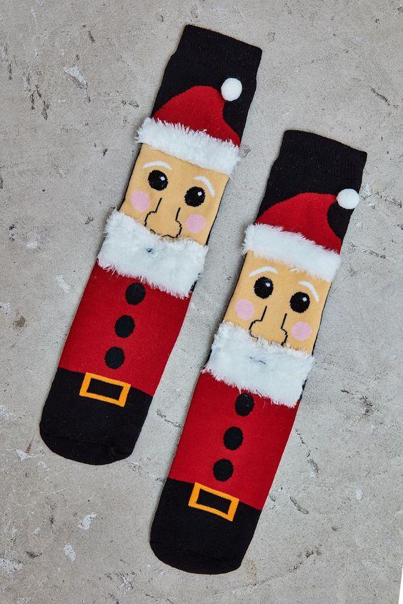 Santa Clause Graphic Socks