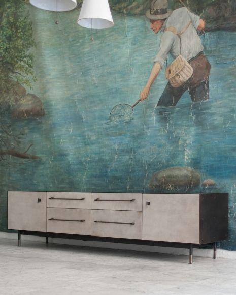 furniture bronze mid credenza bddw cadenza furniture
