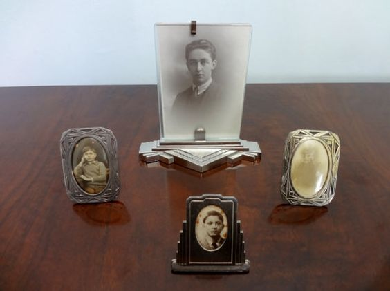 French Art Deco Antique Photo Picture Frames in by Decofanatique, $49.00
