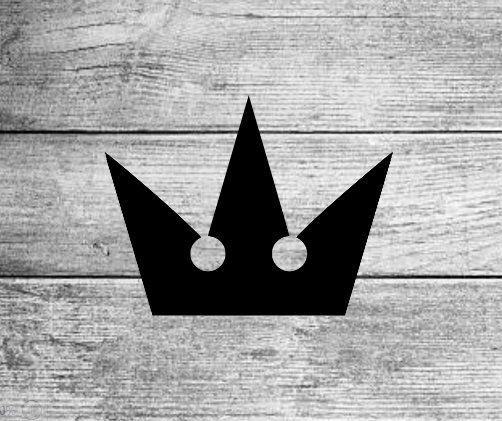 Kingdom Hearts Crown Logo Mickey Disney Sora Key Blade Video Game Fan Decal Sticker With Images Kingdom Hearts Tattoo