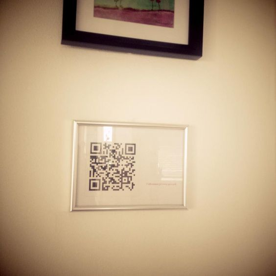 Make a QR code in your house for guests to connect for wifi. (I have no idea how this works, but it seems smart!)