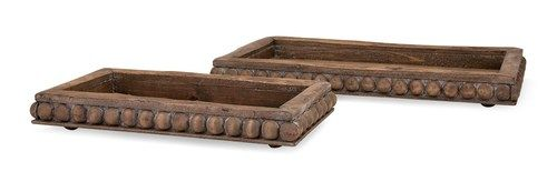 Wooden Decorative Trays Brilliant Kelly Wooden Decorative Trays  Set Of 2 405132  Products Review