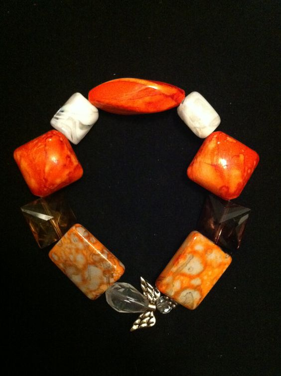 Angel in Orange Bracelet on Etsy, $6.50