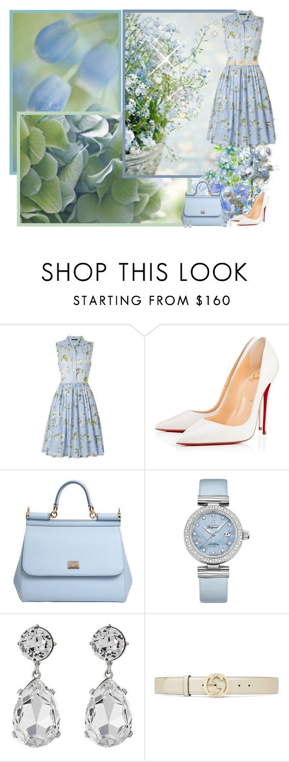 """The true happiness is to see the beauty in the little things ♥♥♥"" by asia-12 ❤ liked on Polyvore featuring Masquerade, French Connection, Christian Louboutin, Dolce&Gabbana, OMEGA, Kenneth Jay Lane and Gucci"