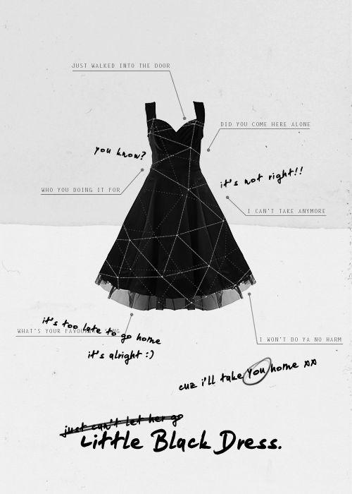 Lyrics to black dress grey