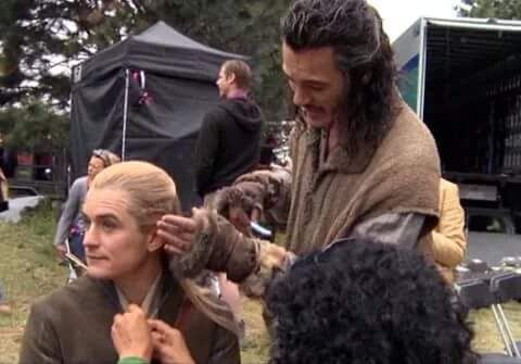 Luke and Orlando Bloom in The Hobbits Movies