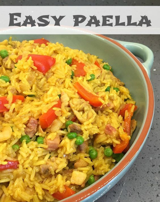 Easy paella recipe - This is healthy and a big family favourite ...
