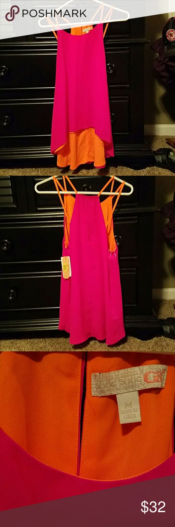 GB Hot Pink and Neon Orange Camisole Top Brand new with tags Camisole Top in Hot Pink and Neon Orange. GB Tops Camisoles