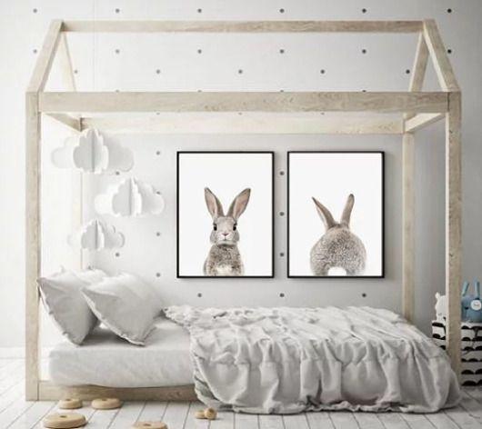 Dwa Plakaty Do Pokoju Dziecka Krolik Zajac Pakamera Pl Bunny Wall Art Girls Room Wall Art Nursery Wall Art Quotes