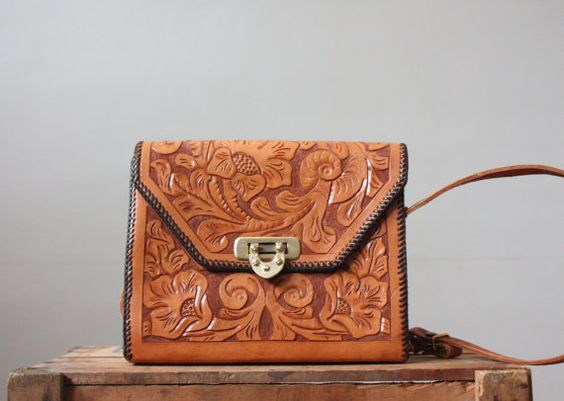 1960's western tooled leather handbag: Handbag Thrushvintage, Beautiful Leather, 1960 S Western, 60 S Leather, Leather Handbags, Leather Tote, Leather Colors, Leather Bags, 1960S Tooled