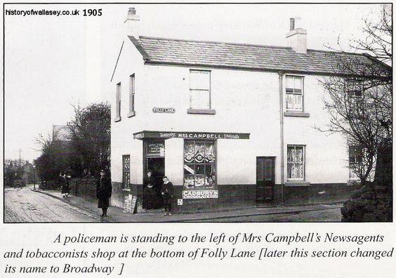 English In Italian: Folly Lane, Wallasey Village