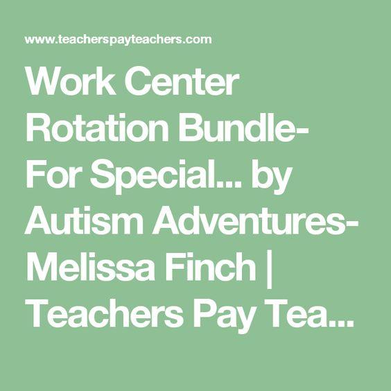Work Center Rotation Bundle- For Special... by Autism Adventures- Melissa Finch | Teachers Pay Teachers