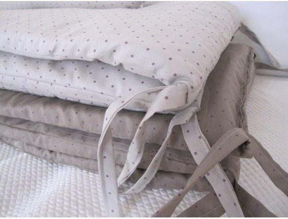Tour de lit pour lit bébé 60 x 120 cm brume POI par lamimifactory